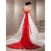 A-Line / Princess Strapless Cathedral Tra...