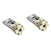 t10 8x1210 SMD LED blanco bombilla para coche luces de señal canbus (2-pack, dc 12v)