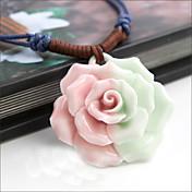 Vintage Rose Collar babero Cerámica (Diámetro de la flor: 4 cm)