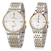 Mujer Reloj de Vestir Reloj de Moda Reloj de Pulsera Simulado Diamante Reloj Cuarzo La imitación de diamante Acero Inoxidable Banda Dorado