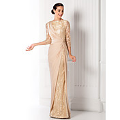 Sheath / Column Bateau Neck Floor Length ...
