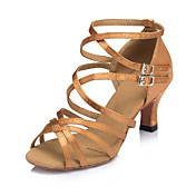 Women's Latin Shoes Silk Criss-Cross Cuba...