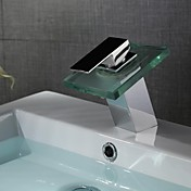 Contemporary Centerset LED / Waterfall wi...