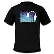 LED-t-shirts Ljudaktiverade LED lampor Te...