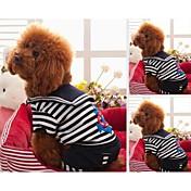 Perros Camiseta Rojo / Negro / Blanco Ropa para Perro Invierno Rayas