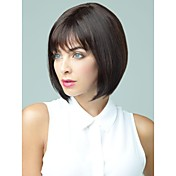 Capless Short Chestnut Brown Bob Human H...