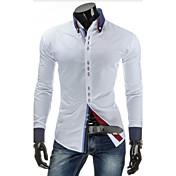 Men's Cotton Slim Shirt - Solid Colored