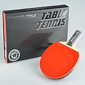winmax® PC 1 de 4 estrellas mango largo tenis de mesa con una caja de embalaje de color