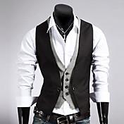 Men's Cotton Slim Vest - Solid Colored
