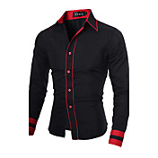 Men's Work Plus Size Cotton Slim Shirt - ...