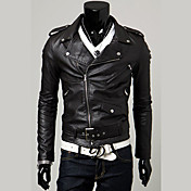 Men's Punk & Gothic Slim Jacket - Solid C...