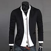 Men's Cotton Blazer-Solid Colored