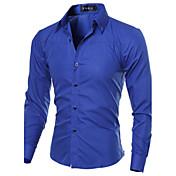 Men's Work Plus Size Cotton Slim Shirt - ...
