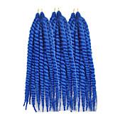 """ツイスト三つ編み ハバナ カネカロン #30 #33 ブルー グレー バグ ヘアエクステンション 12"""" 24 """" 髪の三つ編み"""