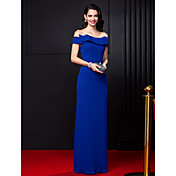 Sheath / Column Off Shoulder Floor Length...