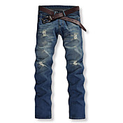 Men's Cotton Straight Chinos Jeans Pants ...