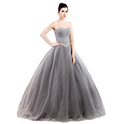 Ball Gown Strapless Floor Length Tulle St...