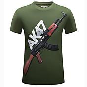 Men's Sports Cotton T-shirt - Graphic Pri...
