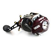 Carrete de la pesca Carretes de lanzamiento 6.3:1 18 Rodamientos de bolas -Manos Zurdo Pesca de baitcasting Pesca de Cebo-BC150