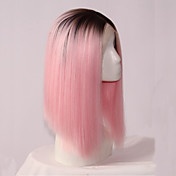 Synthetic Lace Front Wig Bob Haircut Synt...