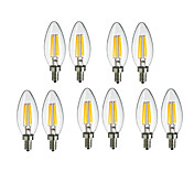 10pcs 4W 360lm E14 LED-glödlampor C35 4 L...