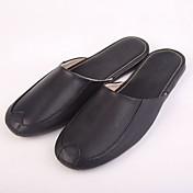 Hombre-Tacón Plano-Confort-Zuecos y pantuflas-Exterior-Otra Piel de Animal-