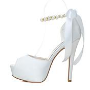 Zapatos de boda - Tacones - Tacones / Punta Abierta / Plataforma - Boda / Fiesta y Noche - Negro / Azul / Rosa / Rojo / Marfil / Blanco -