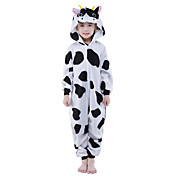 Kid's Kigurumi Pajamas Milk Cow Onesie Pa...