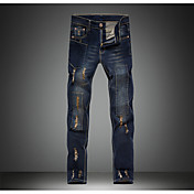 Men's Cotton Slim Jeans Pencil Pants - So...