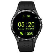 3g SmartWatch Kingwear w8 1,39 '' AMOLED 3g reloj inteligente 400 * 400 llamar la frecuencia cardíaca podómetro cámara de 2,0 MP