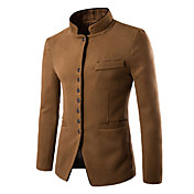Men's Slim Jacket - Solid Colored Stand
