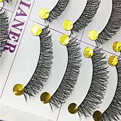 Pestañas Pestaña Pestañas Completas Ojos Entrecruzadas Pestañas Levantadas Hecho a mano Fibra Black Band 0.10mm 12mm