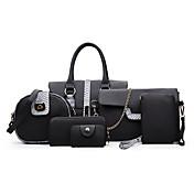Women's Bags PU Bag Set Buttons / Zipper ...