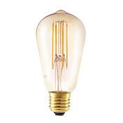5w e27 led bombillas de filamento st58lf 4 cob 350 lm ámbar dimmable / ac decorativa 220-240 v 1 pcs