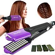 Straighteners / Cepillo de Aire Caliente Solo en Cabello Seco Realzado de Rizos / Suavidad y Tersura / Protector del Color / Masaje Negro