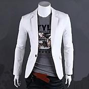 Men's Cotton Slim Blazer - Solid Colored ...