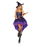 Witch Cosplay Costume Sexy Uniforms Purpl...