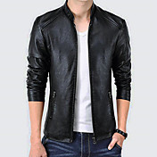 Men's Basic Plus Size Faux Leather Leathe...