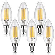 KWB 6pcs 6W 560lm E12 LED Filament Bulbs ...