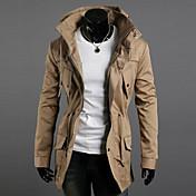 Men's double high collar coat of cultivat...