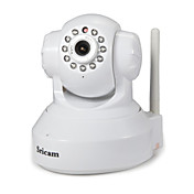 Sricam 1.0 MP Interior with Infrarrojo 128G(Día de Noche Detector de movimiento Acceso Remoto Configuración Protegida de Wi-Fi Conecte y