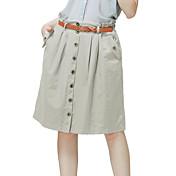 Women's Casual/Cute Inelastic Thin Skirts (Cotton/Nylon)