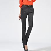 Women's Casual Micro-elastic Medium Skinny Pants (Cotton/Spandex)