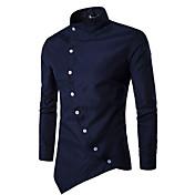 Men's Chinoiserie Cotton Slim Shirt - Sol...