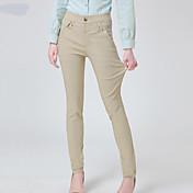Mujer Microelástico Vaqueros Pantalones,Pitillo Un Color