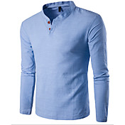 Men's Sports Cotton Slim T-shirt - Solid ...