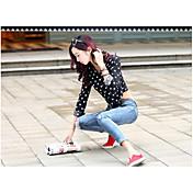 firmar nuevos pantalones vaqueros raídos delgados coreanos femeninos lápiz pantalones delgados pantalones vaqueros nueve puntos de