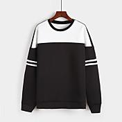 costura de la moda de primavera signo suéter de cuello redondo m