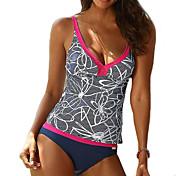 Women's Plus Size Strap Tankini - Floral,...