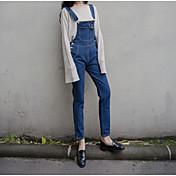 firmar el Instituto Coreano de viento pequeños monos de algodón flojo retro fresco pantalones siameses